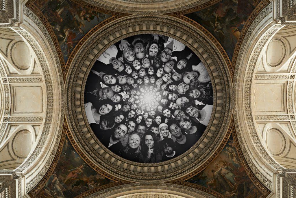 """""""Inside Out, Au Panthéon!, Dome, Paris, France"""", 2014 Colour photograph, mat plexiglas, aluminium, wood 125 x 170 cm ©JR-ART.NET Courtesy Galerie Perrotin"""