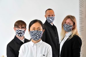Japan House London collaborate with HIROCOLEDGE on Face masks to mark its reopening. FAD MAGAZINE