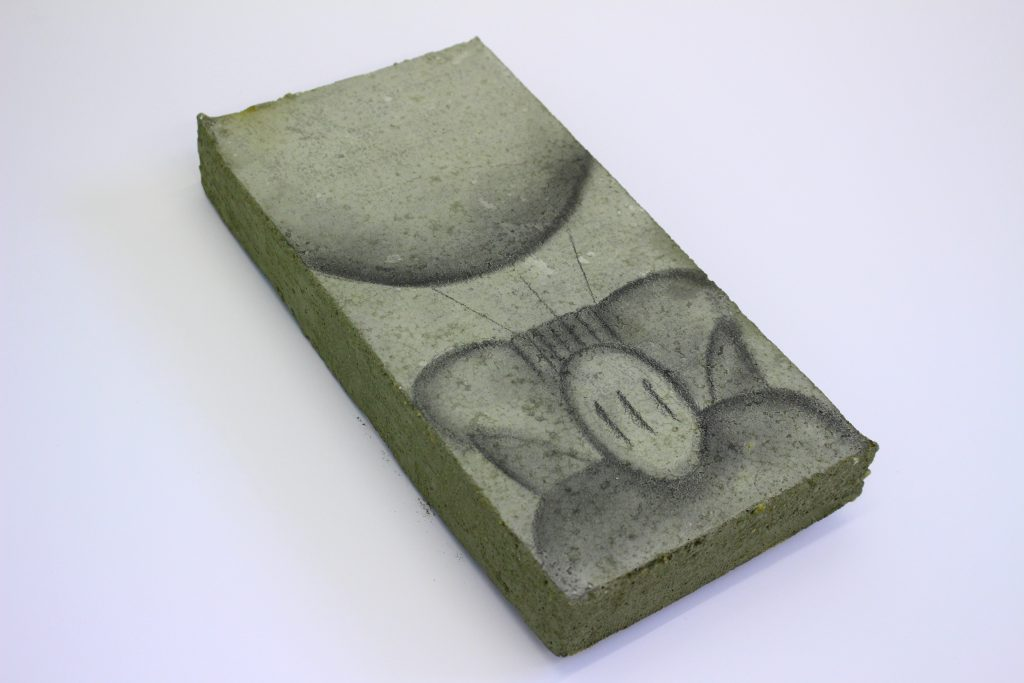 Jess Beige 'First Ship' from Here Dreams of Being There Pencil on Concrete 15.0 x 30.0 x 4.5 cm 2020 FAD MAGAZINE