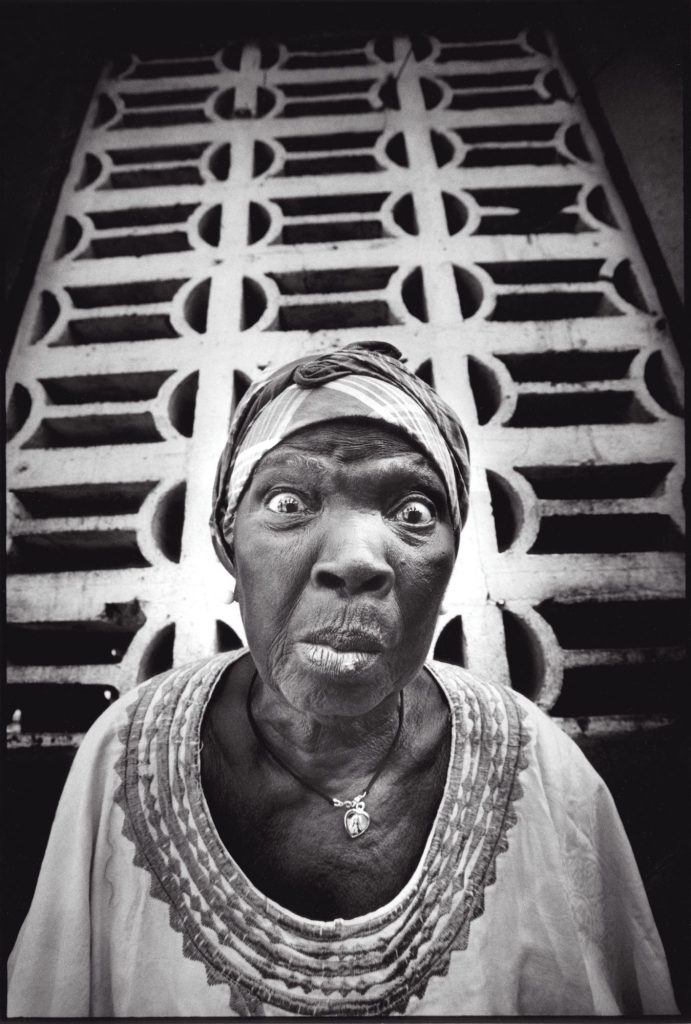 JR (French, born 1983). Women Are Heroes, Liberia, Jessie Jon, 2009. Gelatin silver photograph. © JR-ART.NET