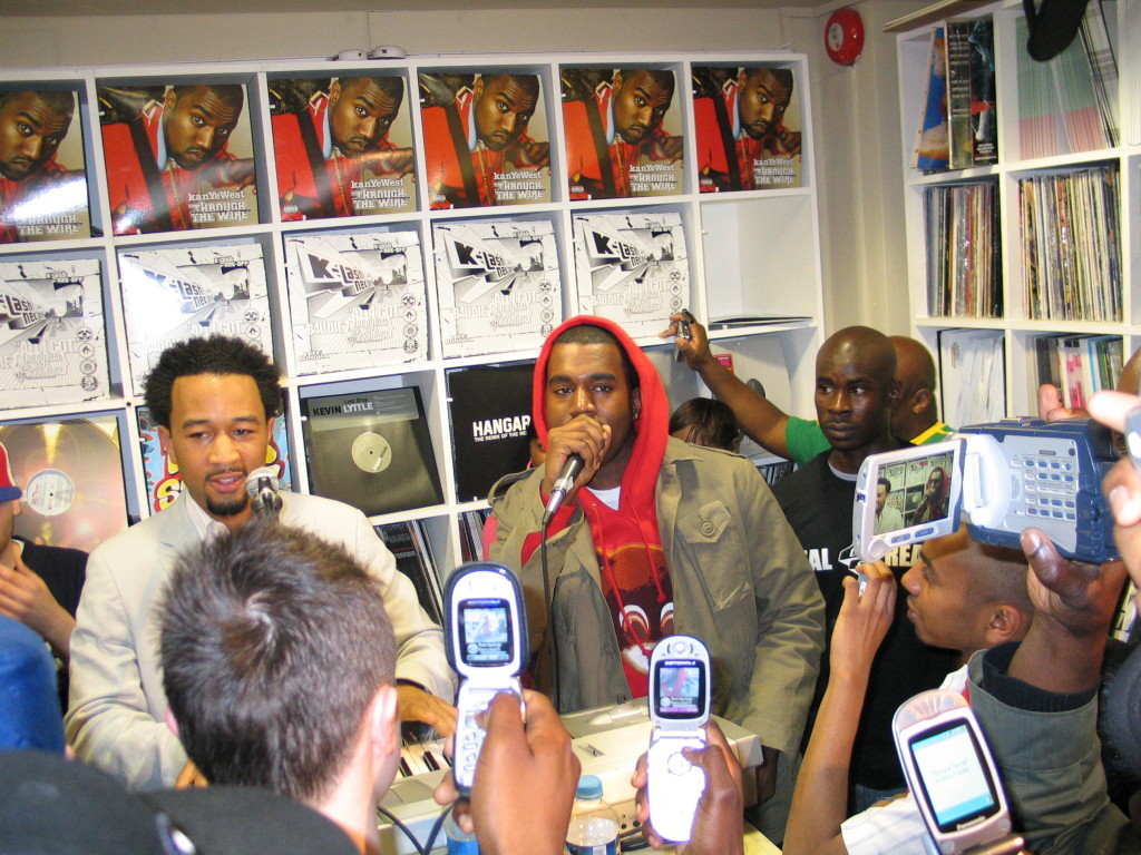 John Legend & Kanye West in-store at Deal Real, Carnaby