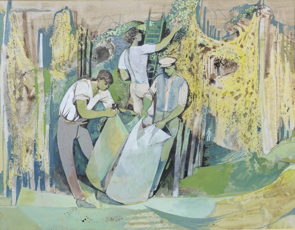 John Minton (1917-1957) The Hop Pickers