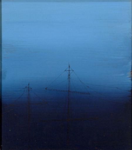 Jonathan Goldman- Untitled - 2013- mix media on wood-60-52 cm