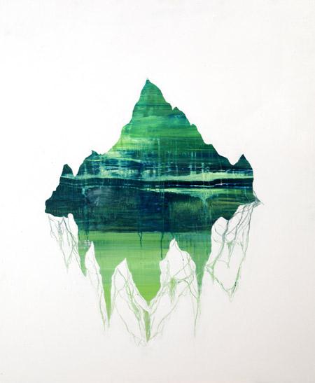 Jonathan Goldman- Untitled - 2013- oil on wood- 124-100 cm