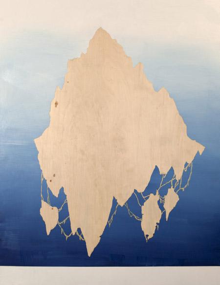 Jonathan Goldman- Untitled - 2013- oil on wood- 160-122 cm