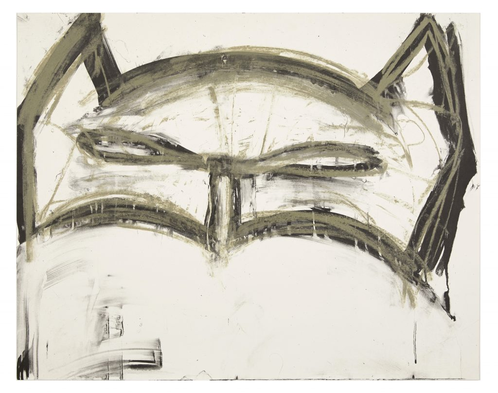 Joyce Pensato Margate Batman (2019) Edition of 125 2 colour lithograph on Somerset Tub Sized Satin White 410gsm. Produced by Counter Studio, Margate. 76 x 60 cm (29.9 x 23.6 in) Signed and dated by the artist © Joyce Pensato Courtesy of CounterEditions.com