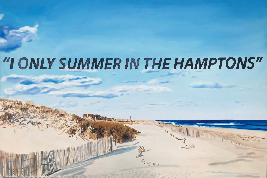 KAPLAN TWINS I Only Summer in the Hamptons Oil on canvas, 2018 48 x 72 inches