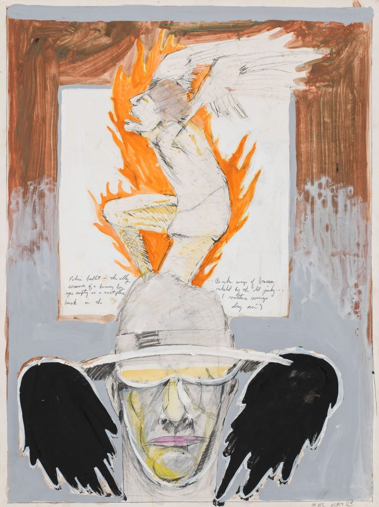 Mike Kelley Untitled (Student Drawing) 1974 Mixed media on paper 61 x 45.7 cm / 24 x 18 in Photo: Fredrik Nilsen