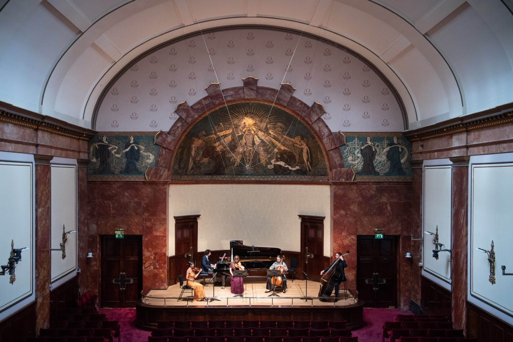FAD MAGAZINE Kaleidoscope Chamber Collective rehearses at Wigmore Hall ahead of 1 August re-opening concert (4) Matt Crossick_PA Wire
