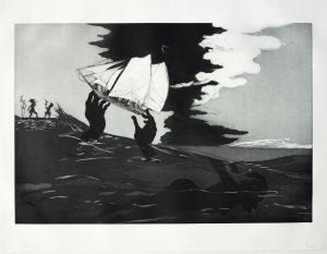 no world from An Unopened Land in Uncharted Waters by Kara Walker (2010), New York, Museum of Modern Art (MoMA) aquatint etching, 60.6 x 90.5cm; image © British Museum