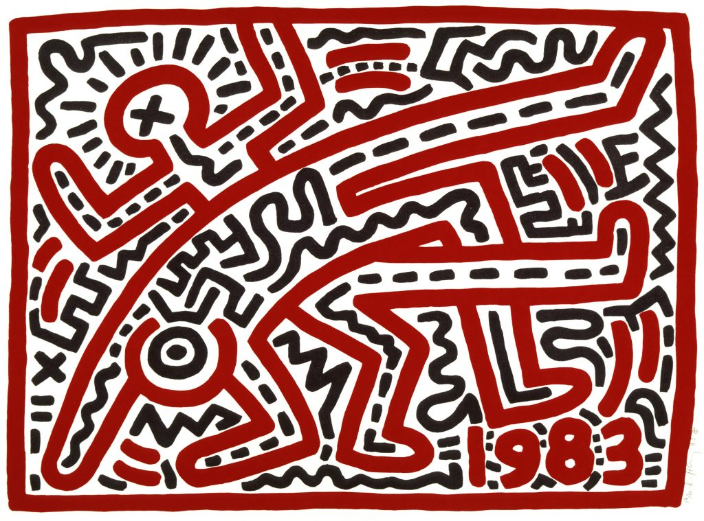 Keith Haring, 1958–1990 Untitled 1983 Woodcut 610 x 762 mm Collection of the Keith Haring Foundation