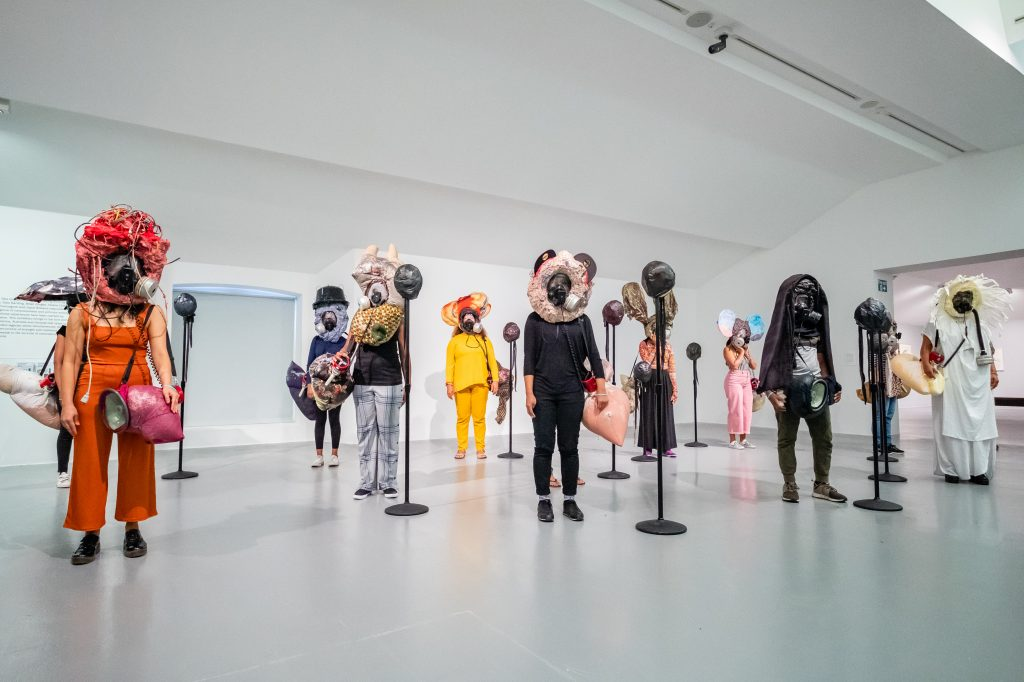 Kevin  Beasley,  Your  face  is/is  not  enough,  2018.  Performance  at  Tate  Liverpool,  Liverpool  Biennial  2018,  14  July  2018.  Image  courtesy  the  artist  and  Casey  Kaplan,  New  York.  Photo:  Pete  Carr