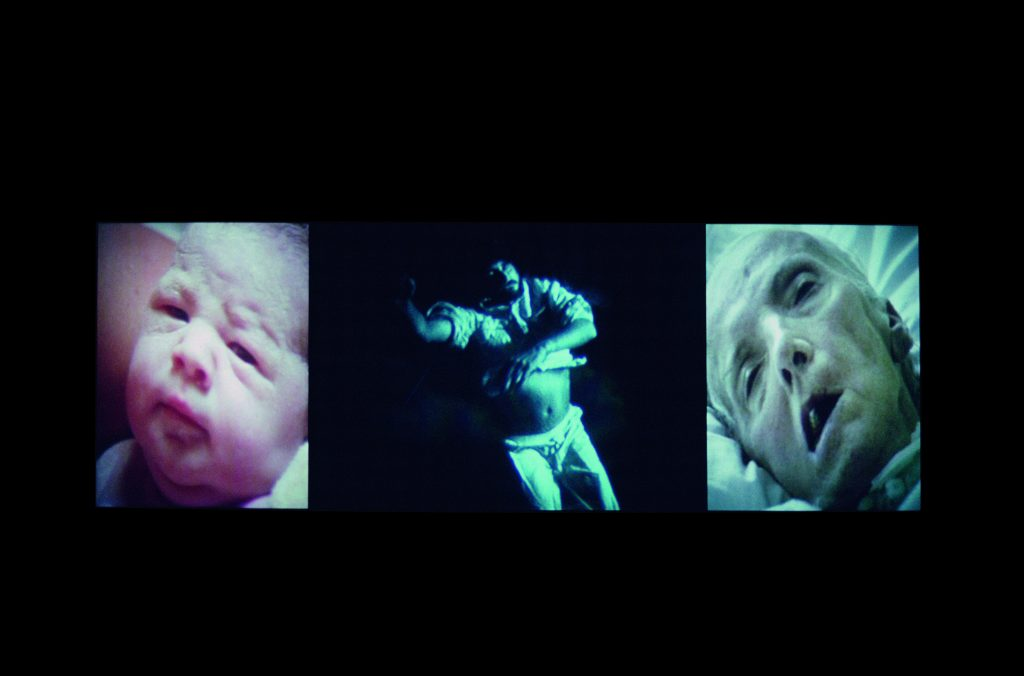 Bill Viola, Nantes Triptych, 1992 Video/sound installation Courtesy Bill Viola Studio Photo: Kira Perov