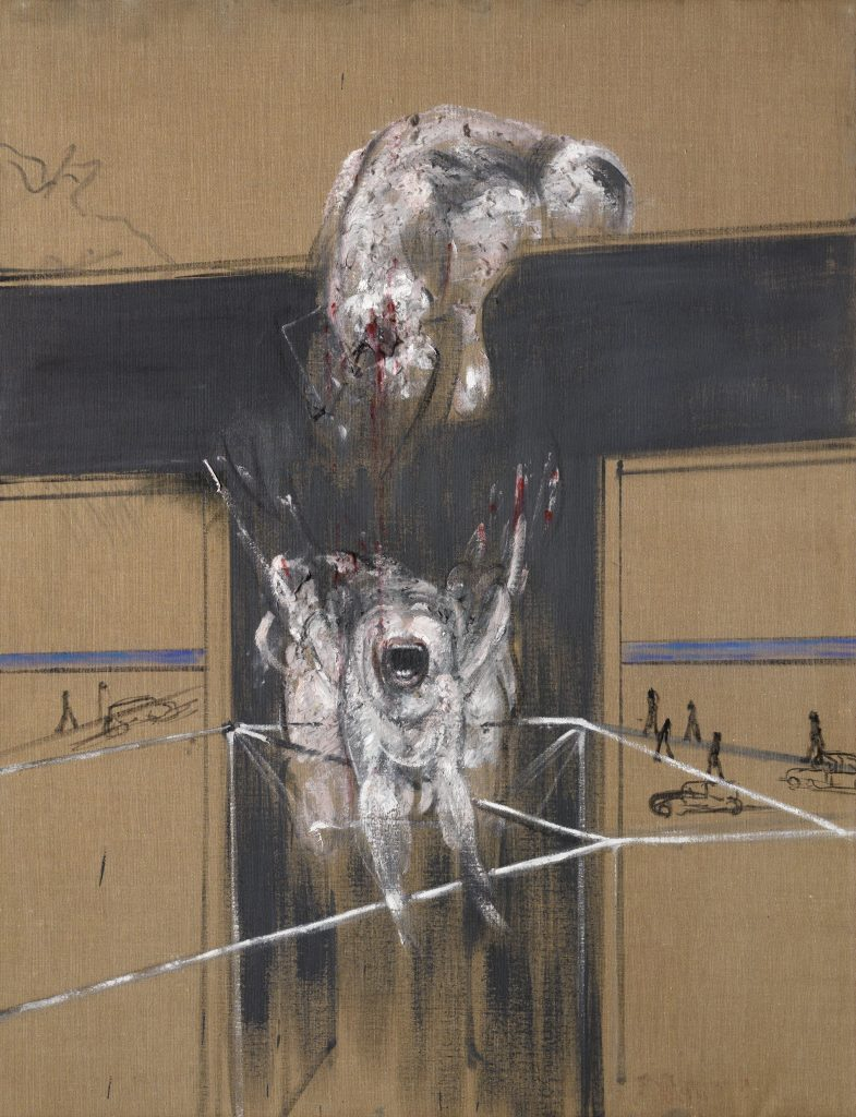 Francis Bacon, Fragment of a Crucifixion, 1950 Oil and cotton wool on canvas, 140 x 108.5 cm Van Abbemuseum, Eindhoven © The Estate of Francis Bacon. All rights reserved, DACS/Artimage 2020. Photo: Hugo Maertens FAD magazine