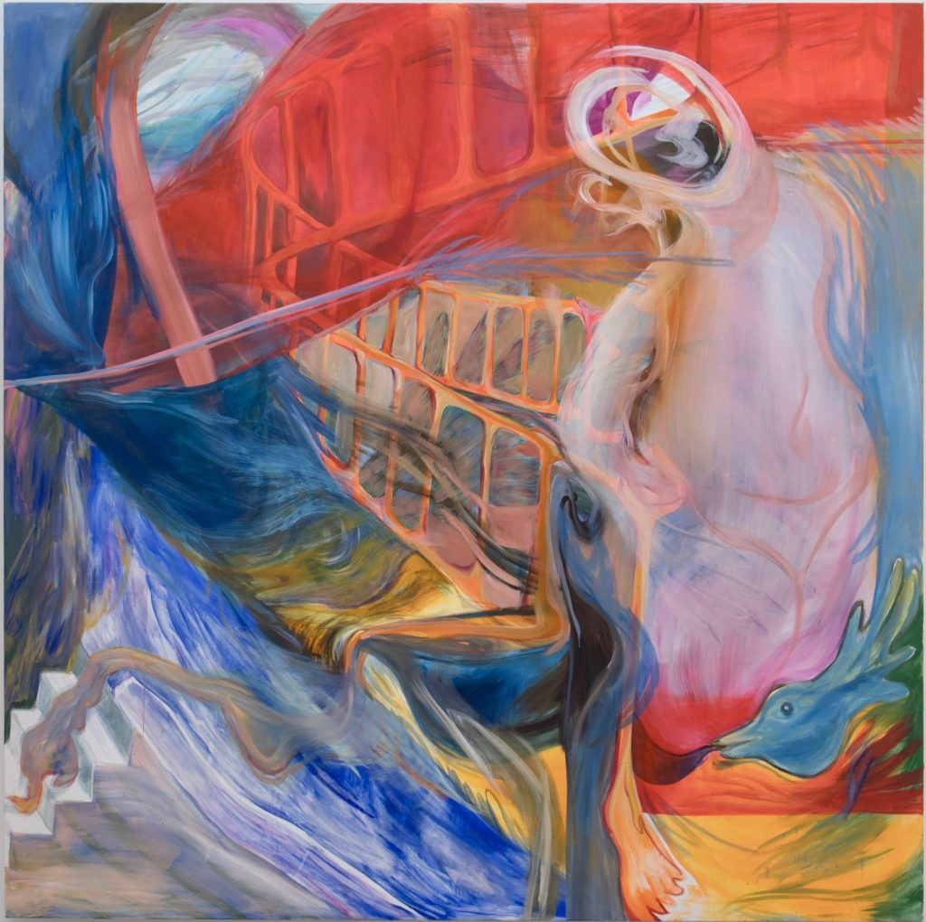 FAD MAGAZINE Kristy M Chan Spiral Staircase, 2019 Oil on Canvas