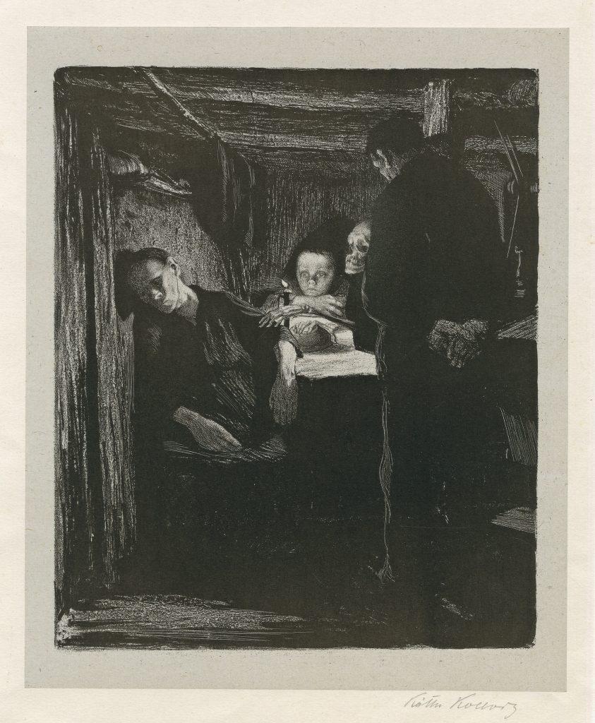 Kathe Kollwitz, Tod (Death), 1893–97, © The Trustees of the British Museum