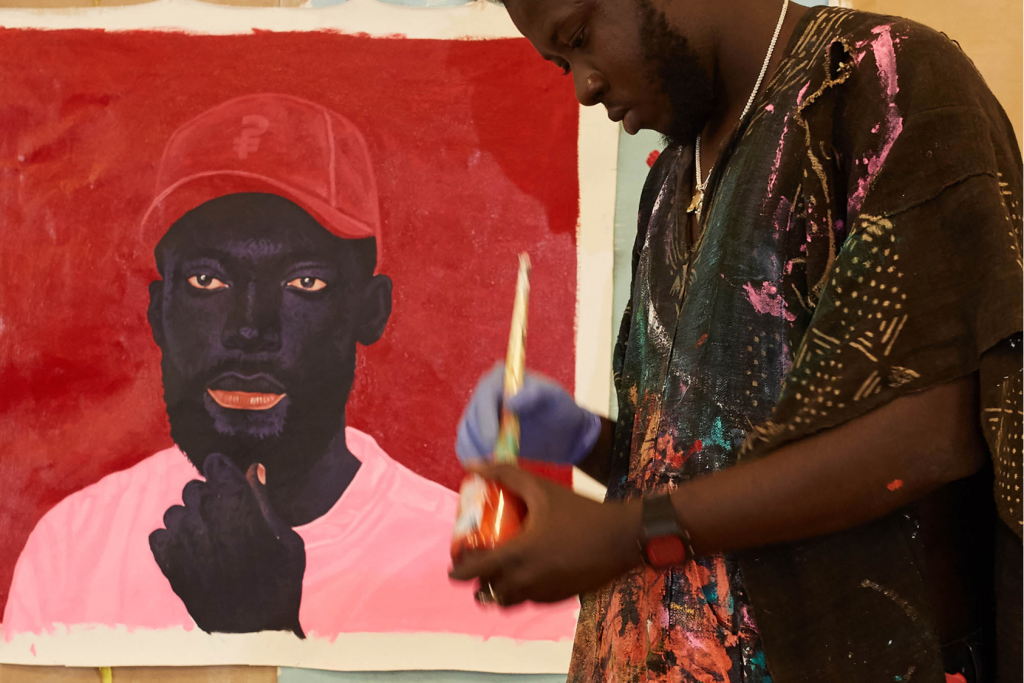 Kwesi Botchhway at his studio Worldfaze FAD magazine