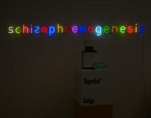 Damien Hirst Schizophrenogenesis Neon. 2014. Edition of 12. L 172 x W 15 x D 30 cm