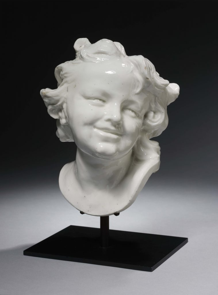 Louis-Franc?ois Roubiliac (1705-1762), 'Head of a Laughing Child', about 1746–49 (c) Victoria and Albert Museum, London