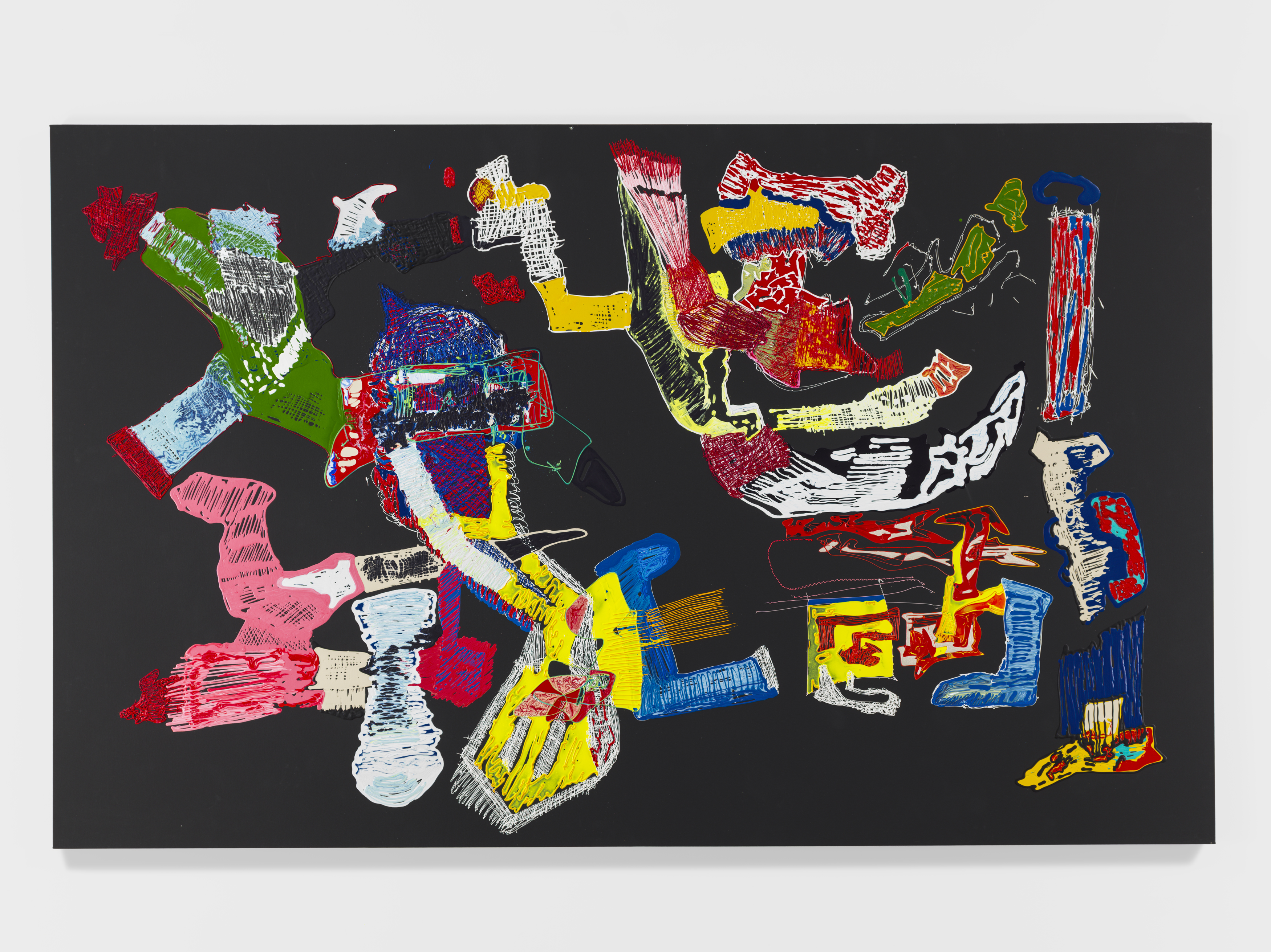 Leelee Kimmel Pound, 2018 Acrylic on canvas 167.6 x 269.2 cm (66 x 106 in.) (SLG-LK-10412) Courtesy of the artist and Simon Lee Gallery