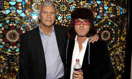 Larry Gagosian and Damien 010 Damien Hirst to part company with dealer Larry Gagosian