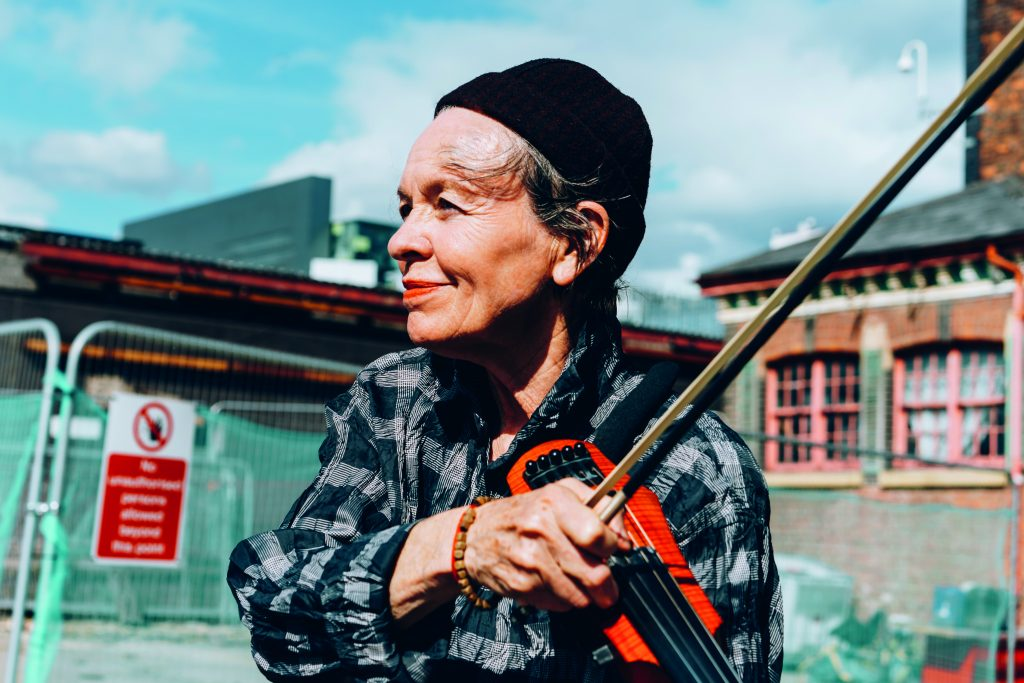 Laurie Anderson at The Factory Groundbreaking image credit Tarnish Vision