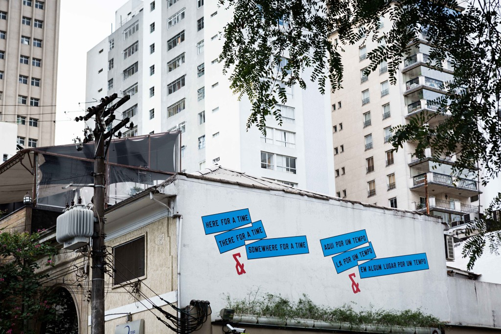 Lawrence Weiner, 2014, Here For a Time