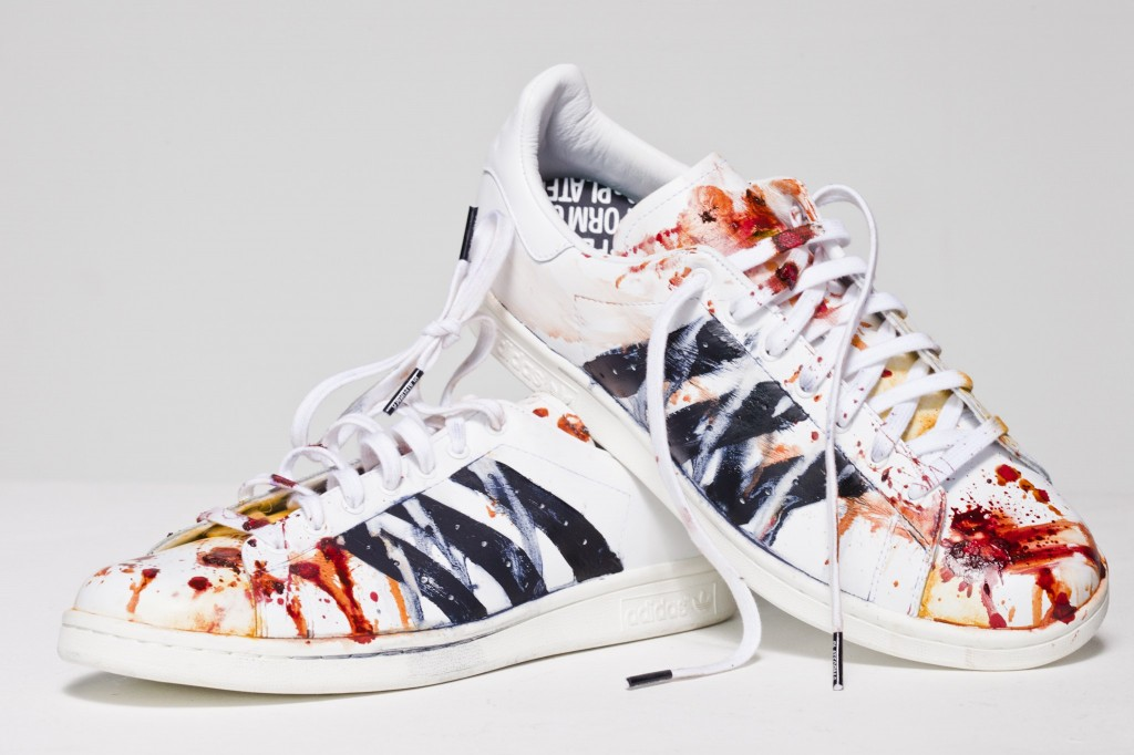 Layla Lyons adidas Stan Smith trainers 1024x682 Platform 6  Debut Exhibition showcasing LGB artwork from Judy Blame, Boy George , William Baker + a many more ..