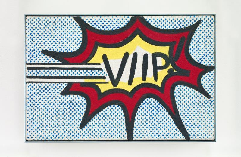 Roy Lichtenstein, VIIP!, 1962, Oil on canvas, 8 x 12 inches (20 x 30.5 cm) Private collection, Switzerland © Estate of Roy Lichtenstein/DACS 2018 FAD Magazine