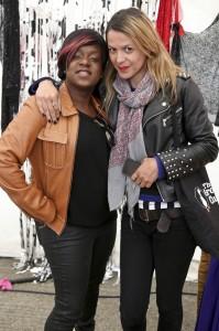 Lisa Moorish and guest at the Vauxhall Art Car Boot Fair 2013 (48)