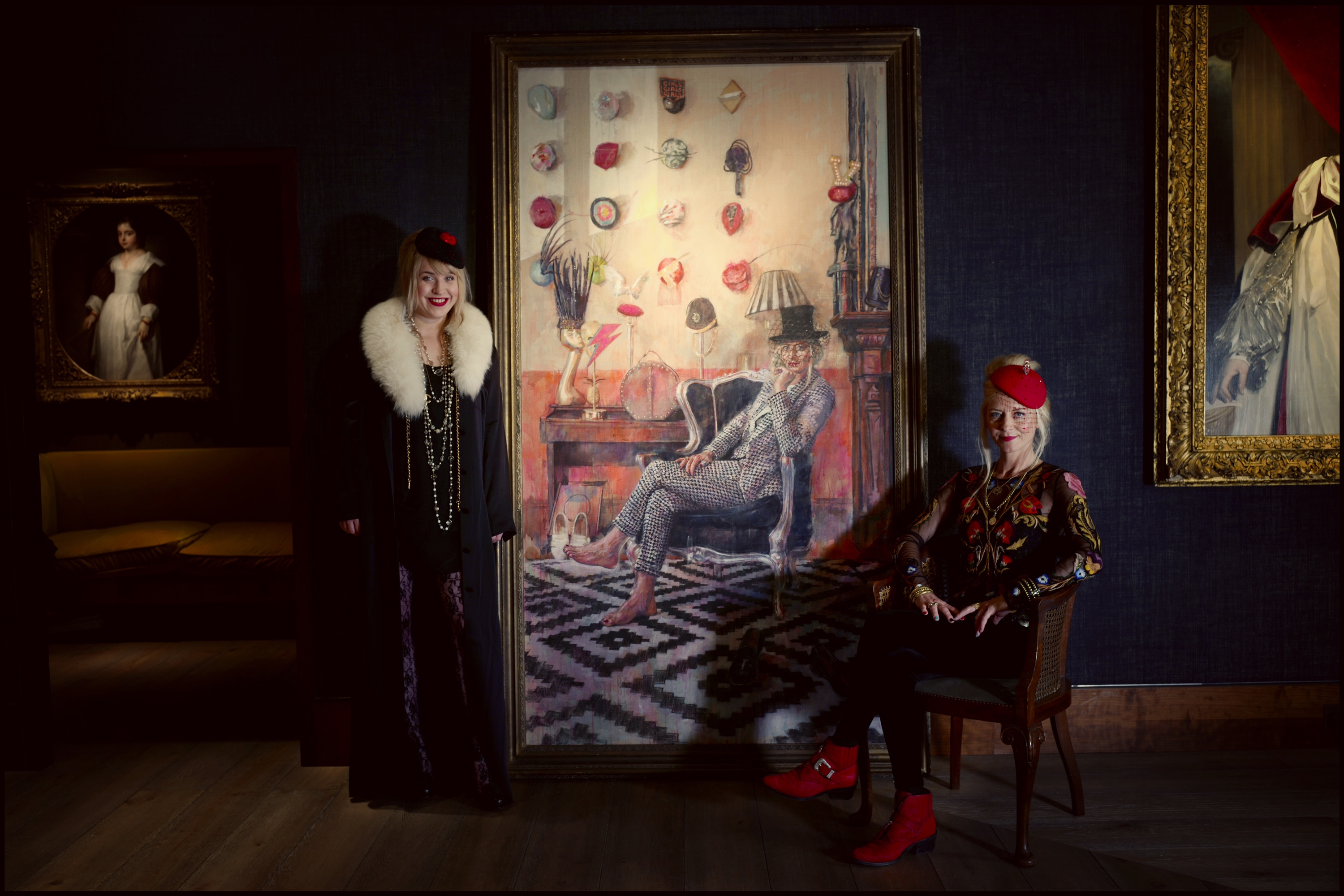 The Philip Mould gallery presents a collaboration between British portrait artist Lorna May Wadsworth and prolific hat designer Victoria Grant