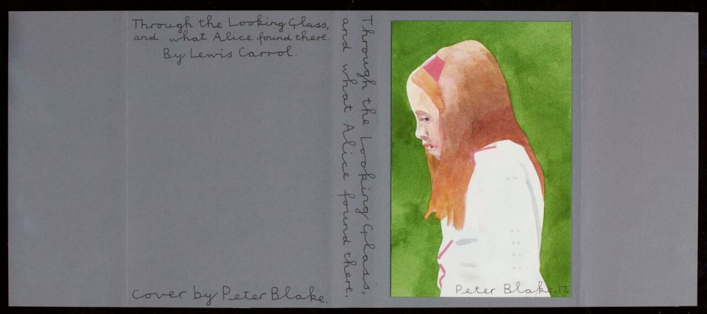 Peter Blake - Through the Looking Glass by Lewis Carroll. FAD magazine
