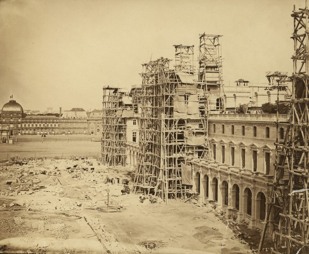 Louvre, Paris_ the north wing of the New Louvre under construction 1849, Credit_ Edouard-Denis Baldus, RIBA Collections FAD magazine