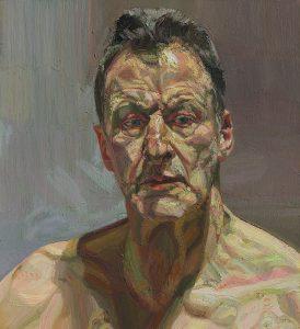 Lucian Freud_Reflection (self-portrait)