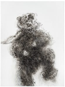 Hambling, Young dancing bear, oil on canvas, 2019, 48 x 36 inches, courtesy Marlborough, London FAD magazine