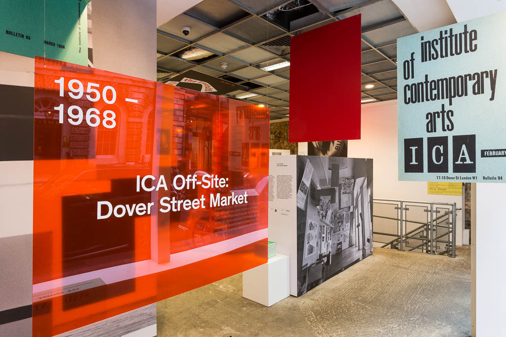 Install shot of ICA Off-Site: Dover Street Market 11 Feb 2014 – 6 Apr 2014 Photo: Mark Blower
