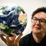 Mark Wallinger and One World. Photo by John Nguyen
