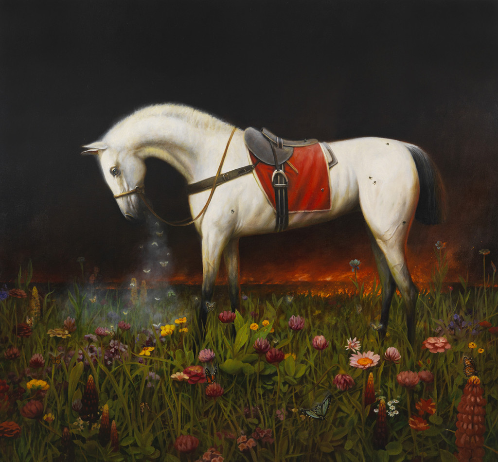Martin Wittfooth, Nocturne V, 2015, oil on canvas, 78 x 84 inches