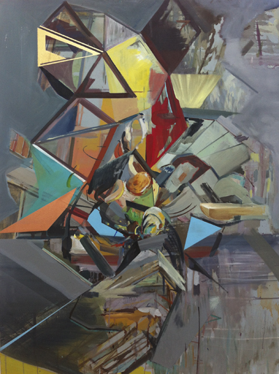 Merlin Ramos, Fallen Geometry, Oil on Canvas, 2013. 91x121cm