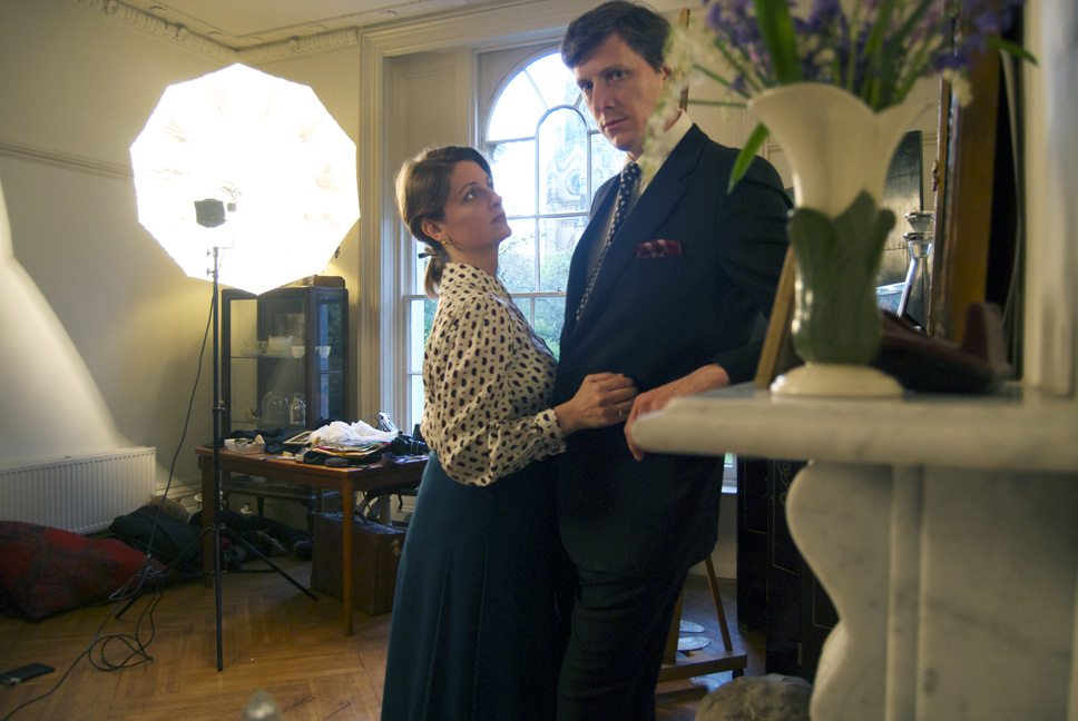 Mr. & Mrs. Philip Cath in their studio London colour Low res