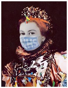 FAD MAGAZINE Nasser Azam, Queen (2020), Art Below