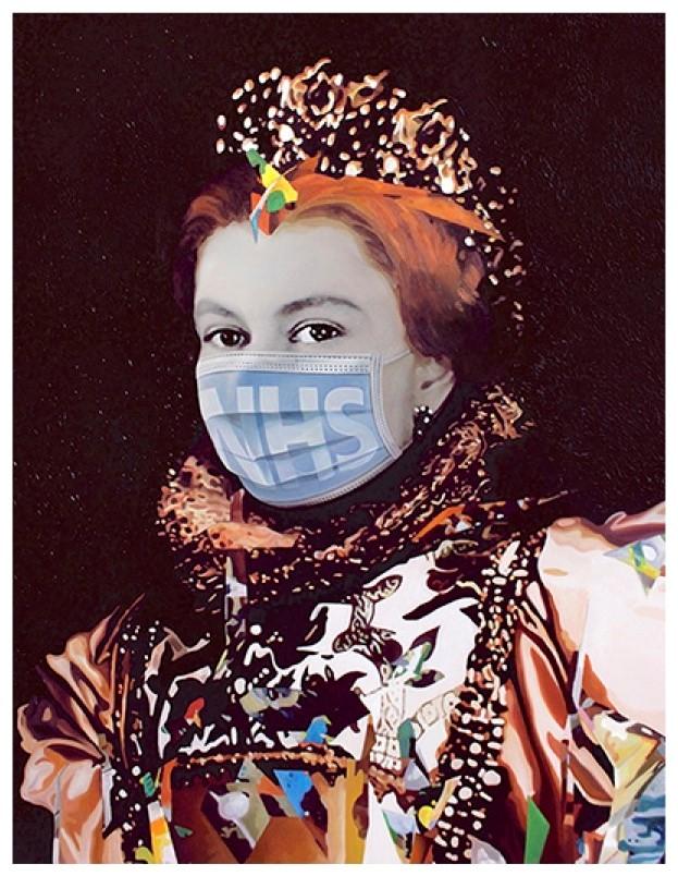 FAD MAGAZINE Nasser Azam, Queen (2020), Art Below