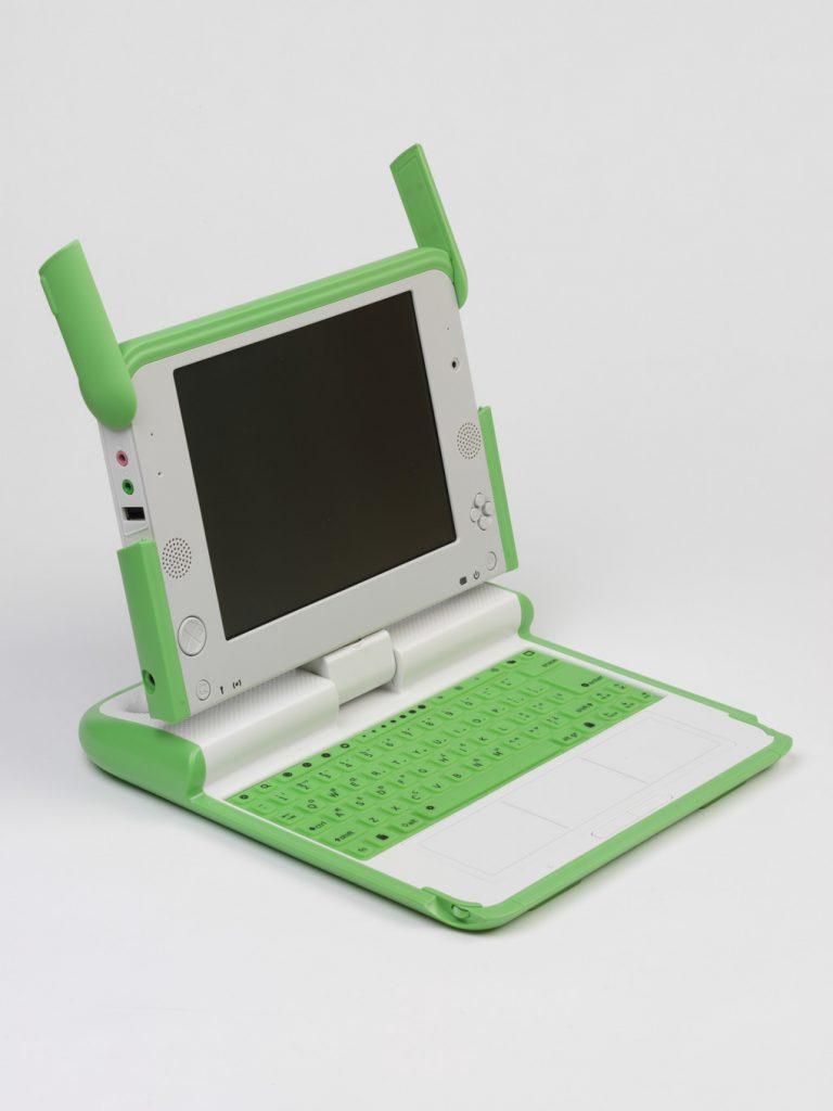 Laptop 'One Laptop Per Child' laptop, designed by Yves Behar, 2005 FAD MAGAZINE