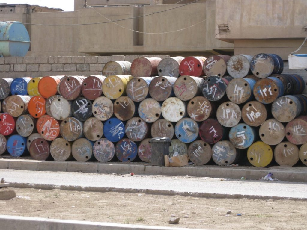 Oil Barrels in Kurdish Iraq, 2008 © Aneta Szylak