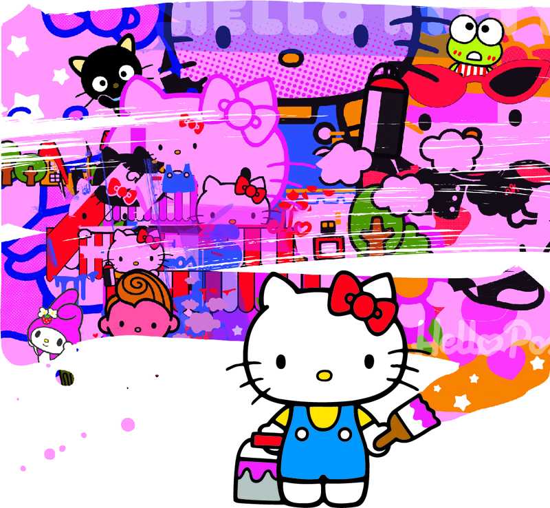 POSE Little Brush 800 Hello Kitty, Hello Art! Art Exhibition & Book Launch Hits  New York City's Openhouse Gallery