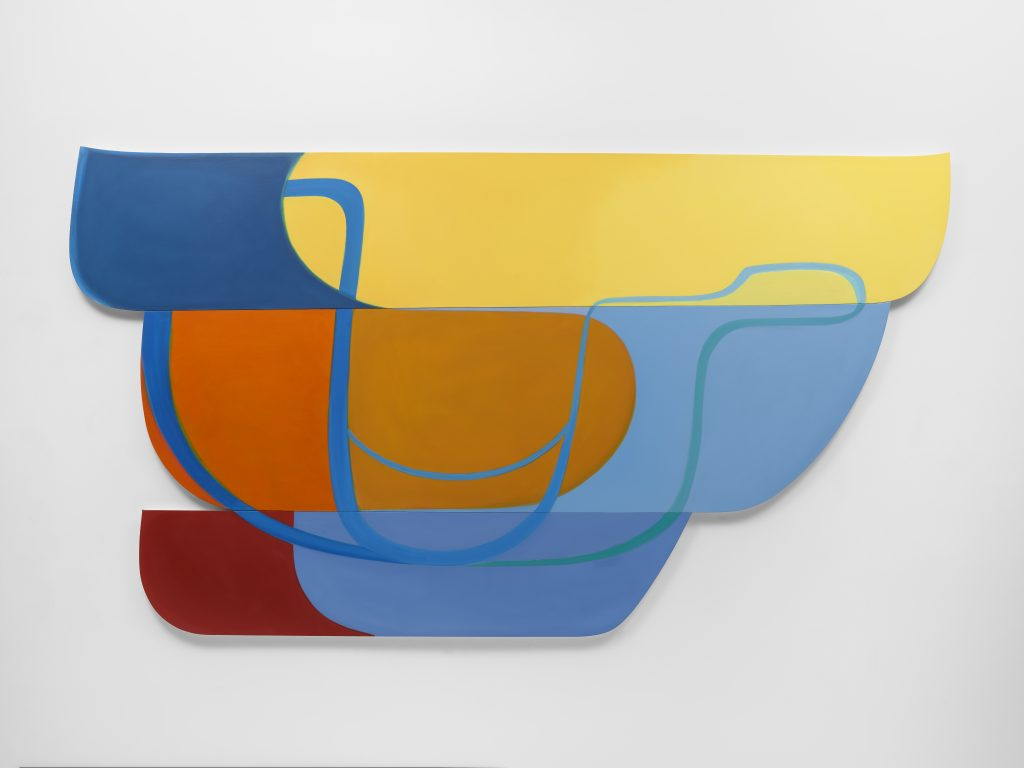 Joanna Pousette-Dart?3 Part Variation #1, 2010?Acrylic on canvas on wood panel?Installed 174 x 317.5 x 3.8 cm?Installed 68 1/2 x 125 x 1 1/2 in © Joanna Pousette-Dart. Courtesy Lisson Gallery