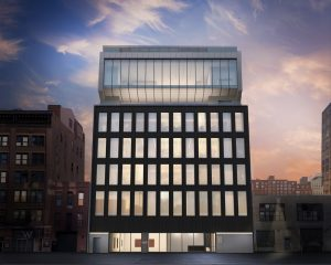 Architectural rendering of 540 West 25th Street, New York. Image courtesy of Bonetti / Kozerski Architecture