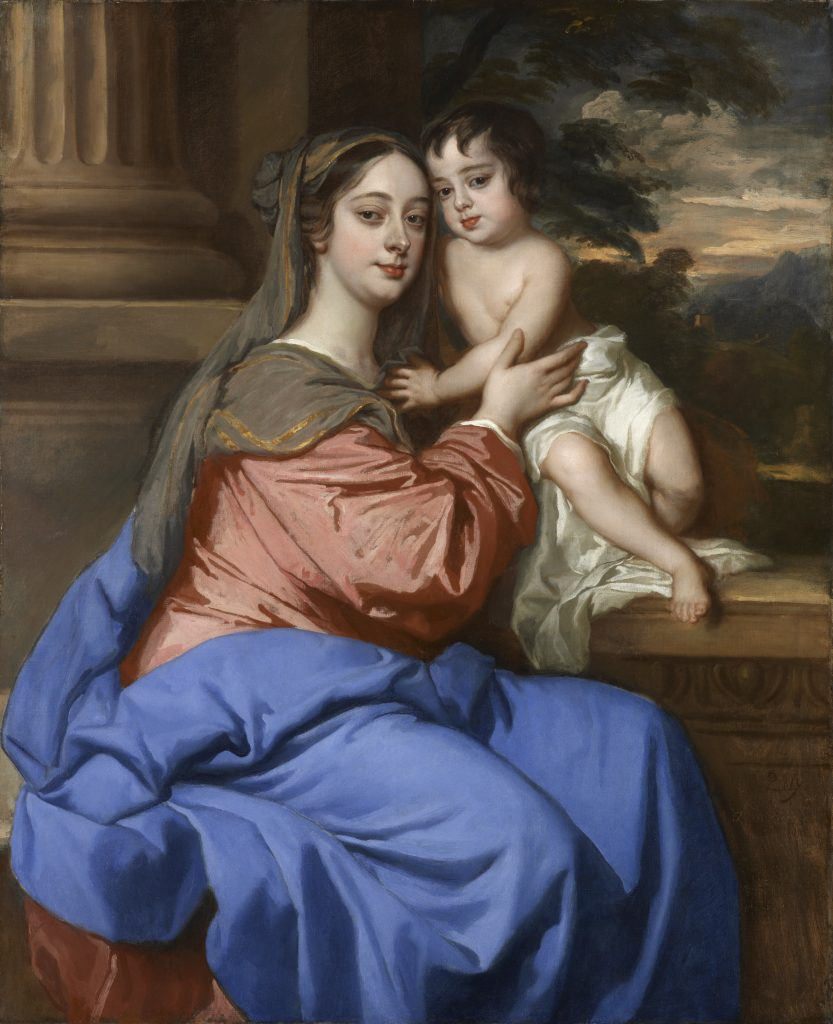 Peter Lely, Barbara Palmer Duchess of Cleveland with her son probably Charles Fitzroy as  Virgin  and child circa 1664