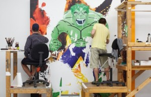Pg 580 Jeffo Koons' studio