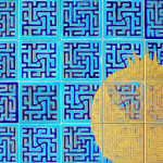 Pomegranate, Gilding on Ceramic Tiles Mounted on Wood Frame. Sassan Behnam-Bakhtiar. Courtesy the artist